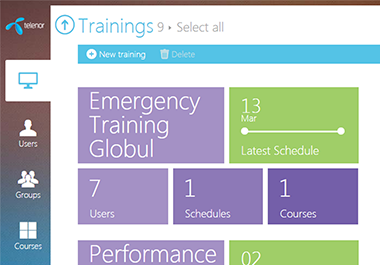 Easy and User-Friendly eLearning Platform for Telenor