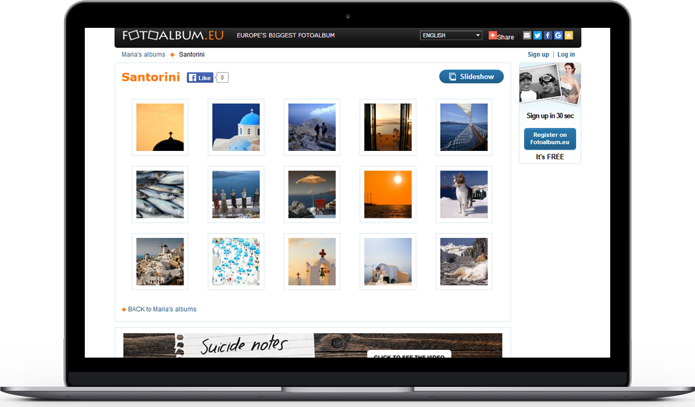 Fotoalbum eu is an Easy-to-use Photo Sharing Site with a